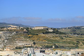 Fort Mosta - View of Fort Mosta from Naxxar