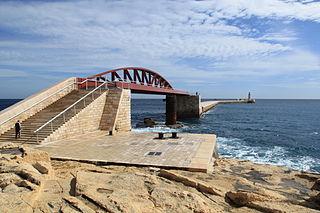 St Elmo Bridge bridge in Malta