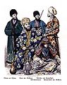 Man from Khiva, Emir of Bukhara, Teke Turkmen, Girl from Samarkand, Police Soldier from Bukhara.JPG
