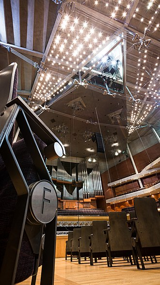 Bridgewater Hall - Main auditorium interior, showing the pipe organ.