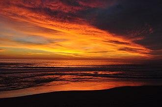 Manresa State Beach - Image: Manresa State Beach at sundown
