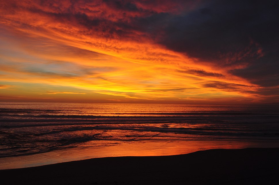 Manresa State Beach at sundown.