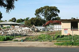 Mansfield Park, South Australia - Demolition of Housing Trust homes