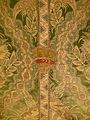 Mantellina con stemma strozzi, lampasso broccato, secondo quarto del XVIII sec..JPG