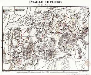 Map Fleurus 1794