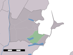 The statistical district of Zuiderwoude in the municipality of Waterland.