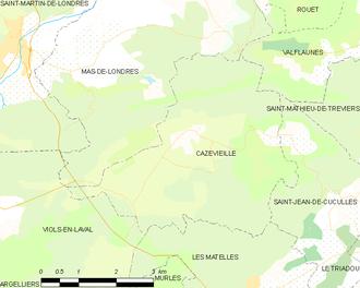 Cazevieille - Map