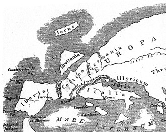 Strabo - Map of Europe according to Strabo.