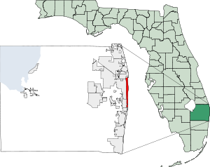 Location of Palm Beach, Florida