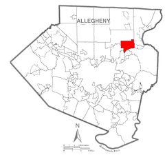 Map of Harmar Township, Allegheny County, Pennsylvania Highlighted.png