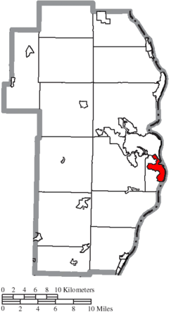 Location of Mingo Junction in Jefferson County