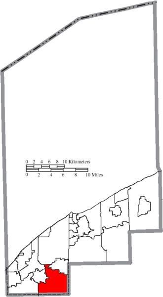Kirtland, Ohio - Image: Map of Lake County Ohio Highlighting Kirtland City