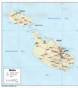 Map of Malta 2