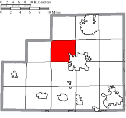 Location of York Township in Medina County