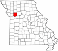 Map of Missouri highlighting Ray County.png
