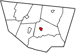 Map of Sullivan County, Pennsylvania highlighting Laporte