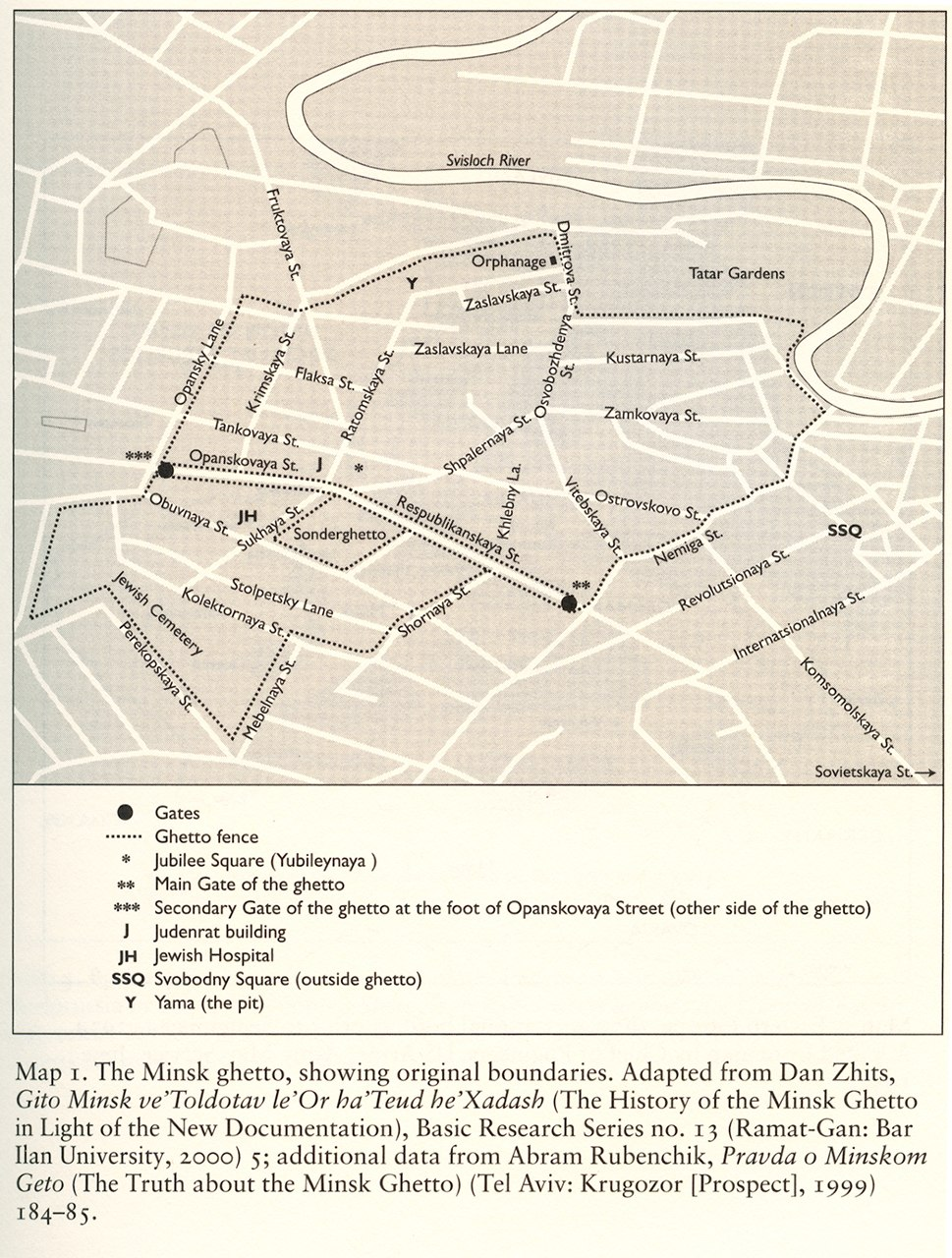 Map of the Minsk Ghetto
