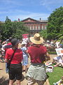 March Against Monsanto end at Jackson Square New Orleans Monsanto Crimes.JPG