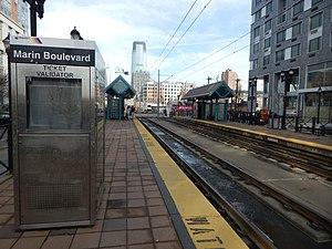 Marin Boulevard (HBLR station) - Marin Boulevard station in March 2015
