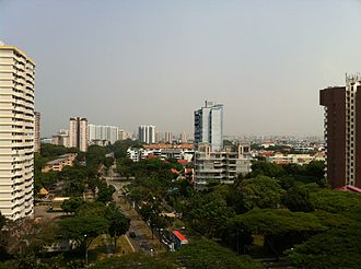 2013 Southeast Asian haze - Bedok South Ave 1, looking west towards Marine Parade at 12:04 PM on 24 June 2013.