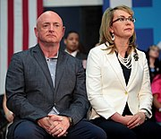 Photo of Kelly and wife Gabrielle Giffords in 2016.