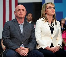 Photo of Kelly and wife Gabby Giffords in 2016