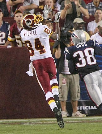Marko Mitchell - Mitchell catching a touchdown pass against New England on August 28, 2009