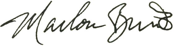 Marlon Brando signature