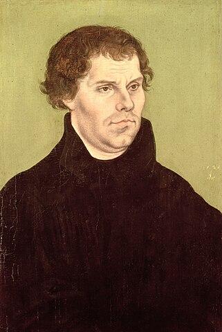 Мартин Лютер. Портрет работы Лукаса Кранаха Старшего 1526