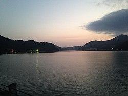 Maruyamagawa River at dusk.JPG