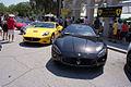 Maserati GranTurismo 2011 S Coupe Ferrari California 2011 AboveLFronts CECF 9April2011 (14598908914).jpg