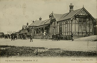 Masterton - The railway station opened 1880 demolished 1967