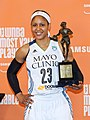 Maya Moore with her 2014 MVP trophy.jpg