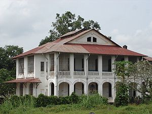 Мбандака: Mbandaka koloniale architectuur Banque du Congo belge