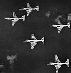 McDonnell F2H-3 Banshees of VF-152 in flight, circa in 1954.jpg