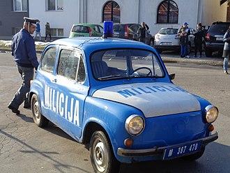 """Police car - Former Yugoslav Police Car - """"Zastava"""" 750"""