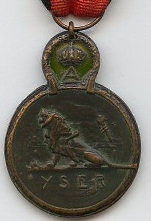 Yser Medal - Image: Medaille de l Yser 1914 Belgique revers