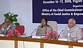 Meira Kumar addressing at the inauguration of the 8th National Review Meeting of State Commissioners for Persons With Disabilities to review the status of implementation of Persons with Disabilities (Equal Opportunities.jpg
