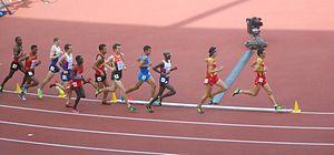 2014 European Athletics Championships – Men's 5000 metres - The race underway