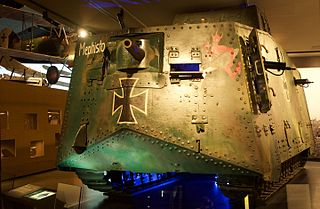 A7V Tank used by Germany in WW I