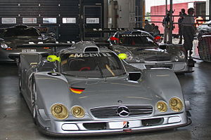 Mercedes-Benz CLR - CLR No. 6 appeared at a track day event held at the Nürburgring in 2009.  The dive planes added to the car before the start of Le Mans are still on the front fenders.
