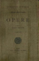 Pietro Metastasio: Opere