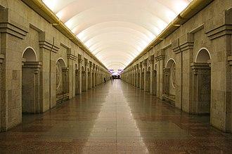 Krestovsky Ostrov (Saint Petersburg Metro) - Station Hall