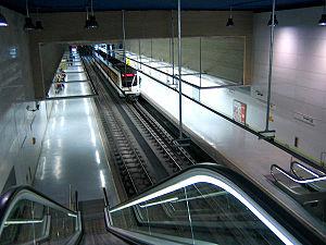 Mestalla Stadium - Aragón station (Line 5) Metrovalencia