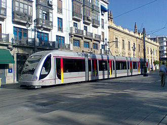 Urbos - Urbos 2 operating on the Seville Metro