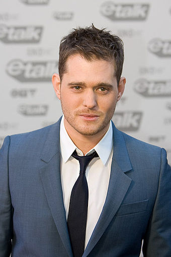 Four-time award winner Michael Buble at the Juno Awards of 2009 Michael Buble by Dallas Bittle crop.jpg
