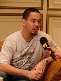 Mike Shinoda saat diwawancarai oleh MTV Thailand di Bangkok, Thailand.