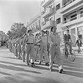 Militaire eenheid tijdens de militaire parade in Haifa bij gelegenheid van de ee, Bestanddeelnr 255-0989.jpg