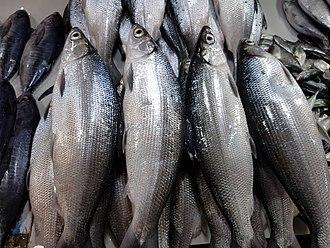 Milkfish - Chanos chanos (locally called bangús) in a Philippine fish market