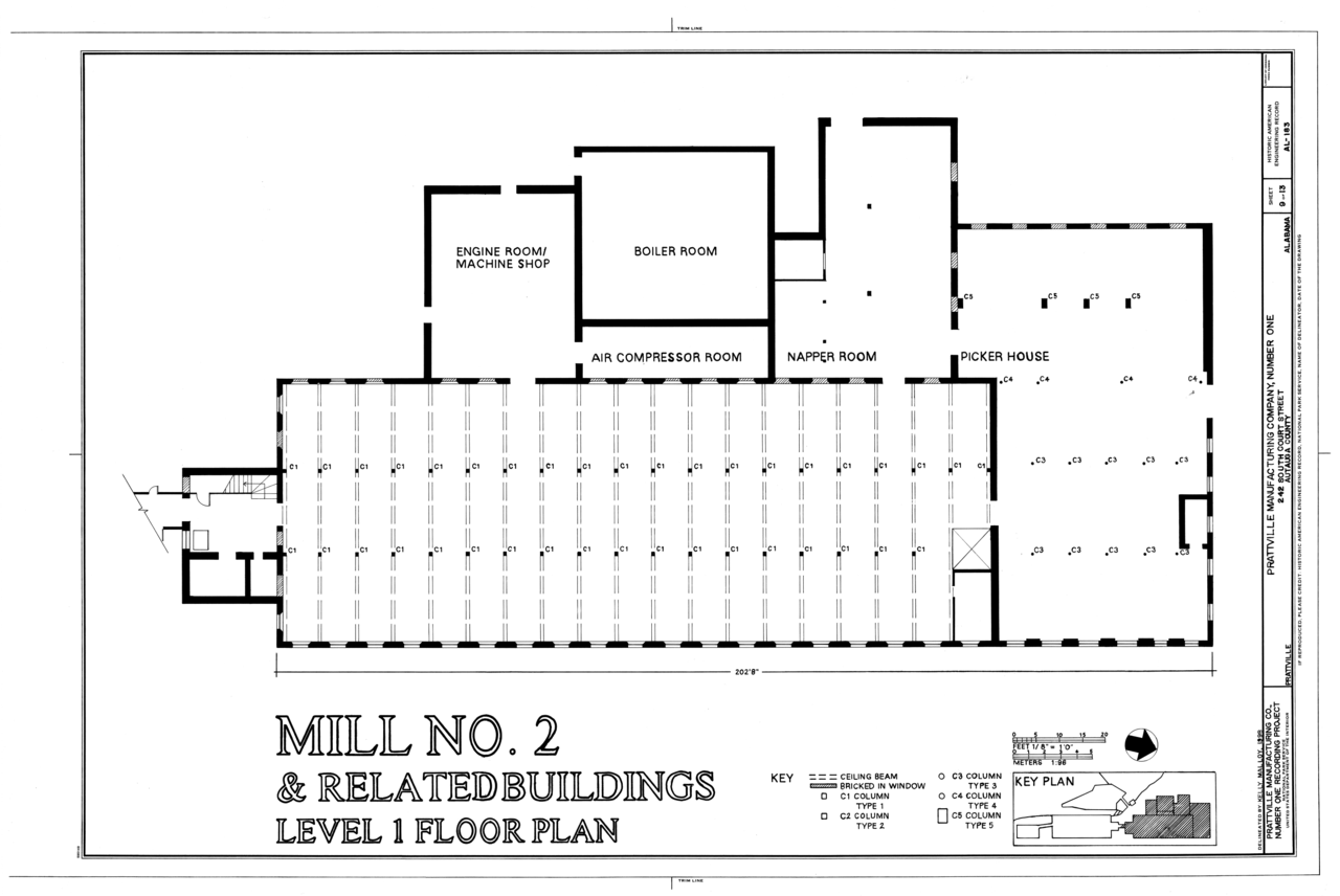 File:Mill No. 2 And Related Building Level 1 Floor Plan